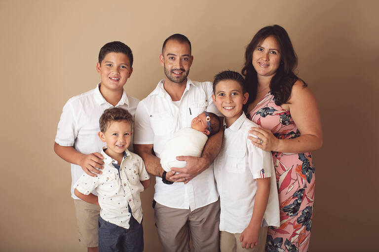The whole family photographer for Ailani's newborn session
