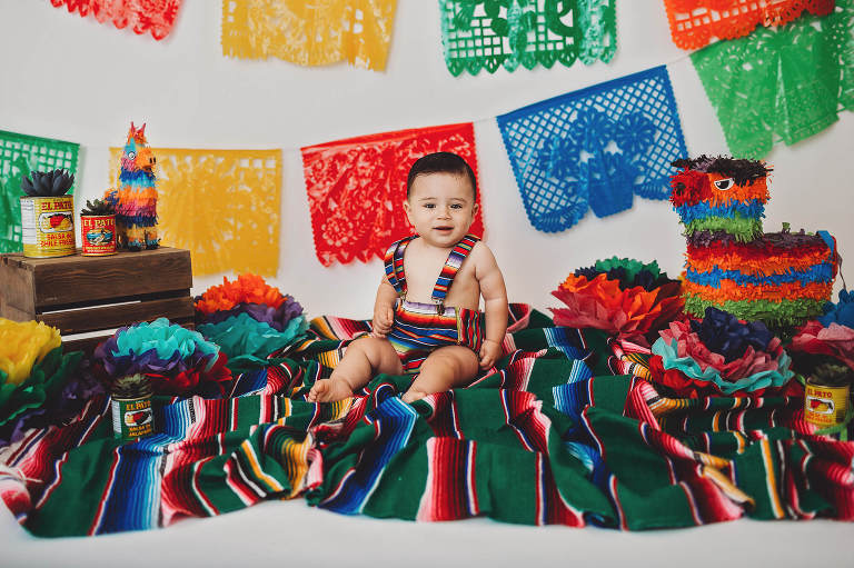 Cake smash session with a Mexican theme from Belle Vie Photography in Tucson