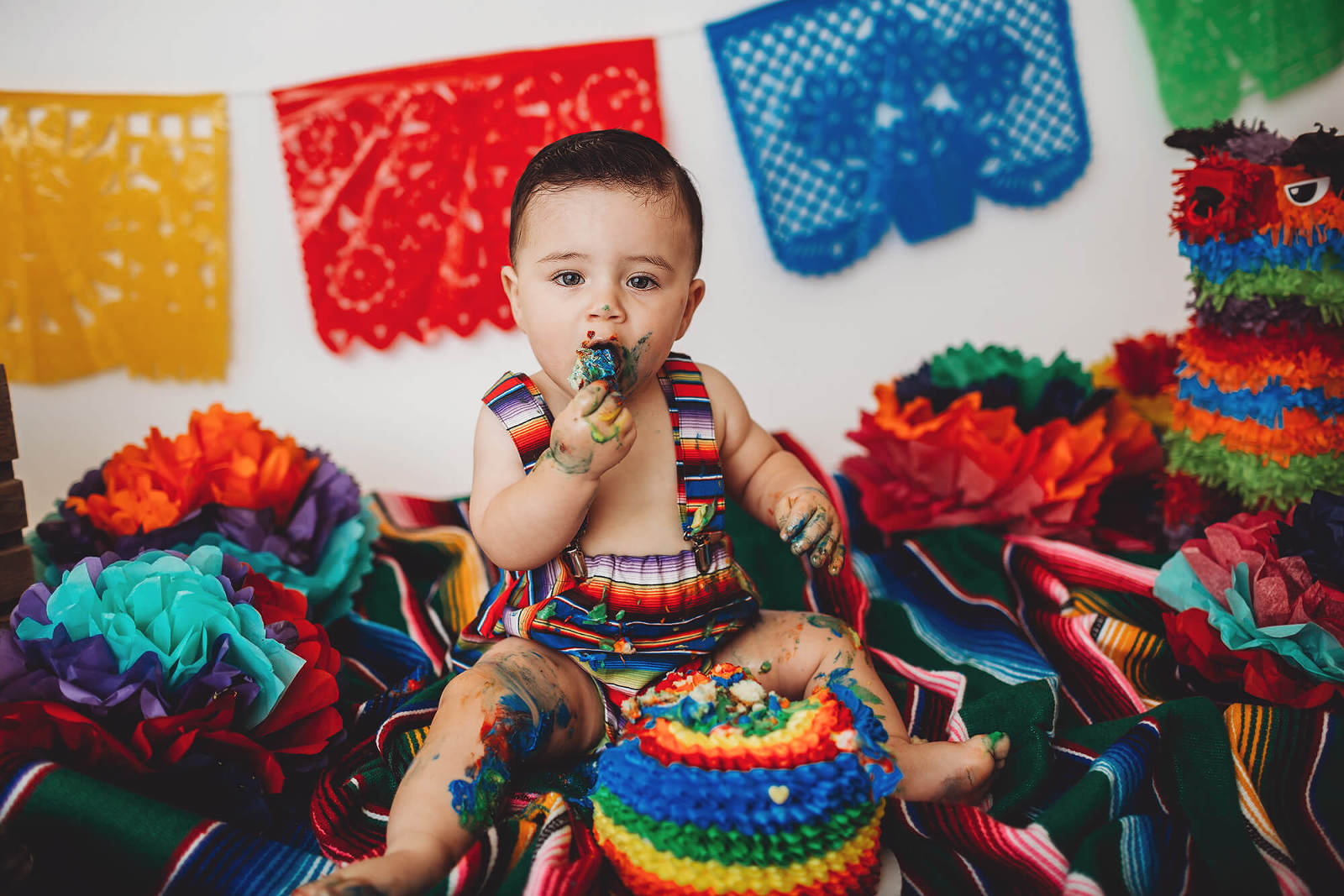A Mexican-themed cake smash session from Belle Vie Photography in Tucson
