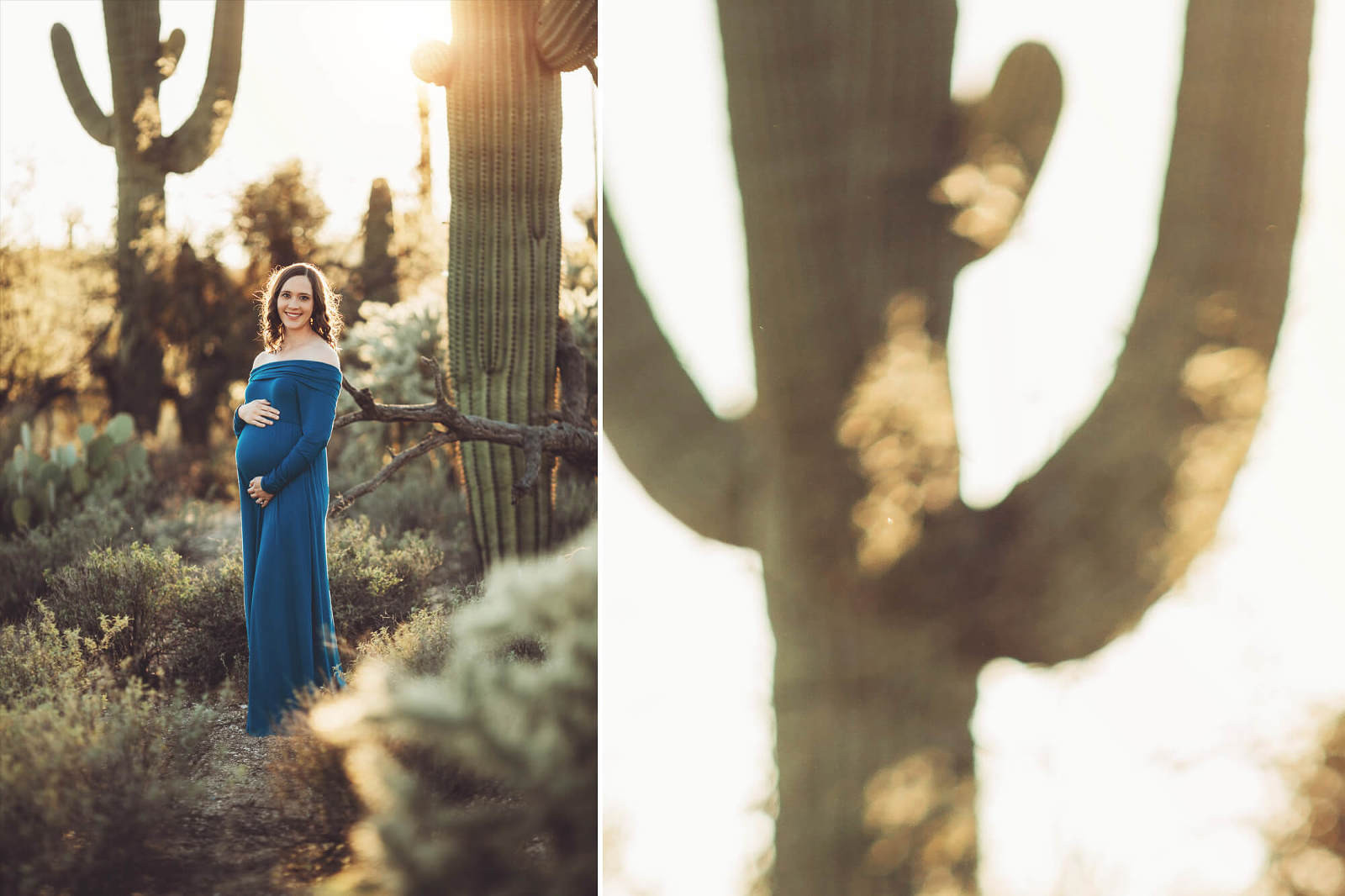 Adrianne's maternity session at Sabino Canyon