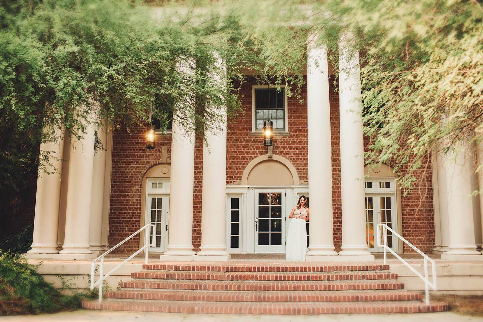 An elegant maternity session at the University of Arizona for Milena