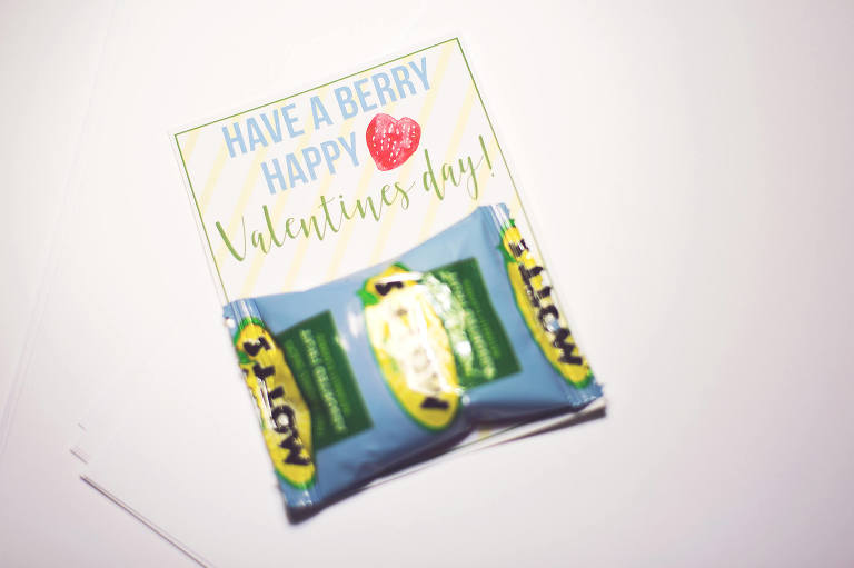 DIY berry Valentine for school