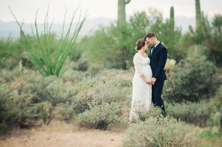 Amanda and Kenneth following their desert elopement in Tucson