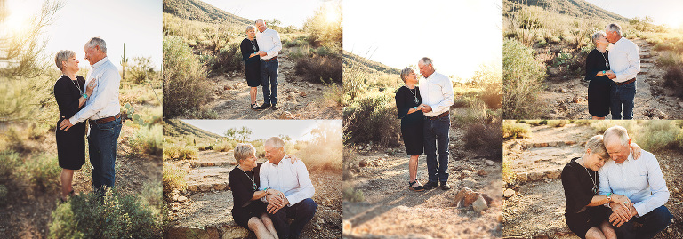 Husband and wife celebrate their 50th anniversary with a photoshoot in the desert of Tucson