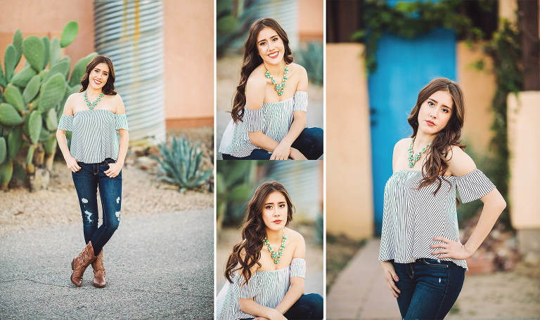 Brianna poses beautifully during her senior photo session with Belle Vie Photography not far from her home in Rita Ranch