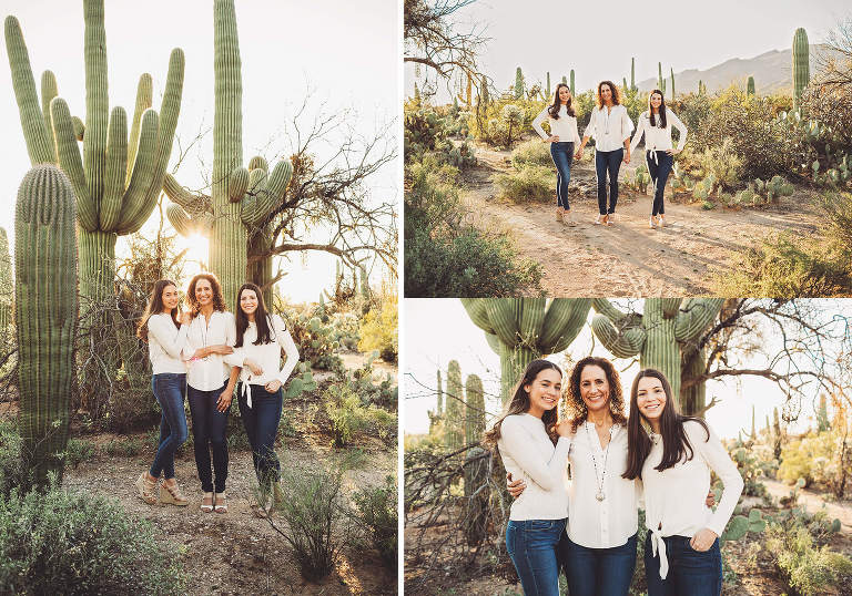 The Marquart ladies during their family photo session at Sabino Canyon